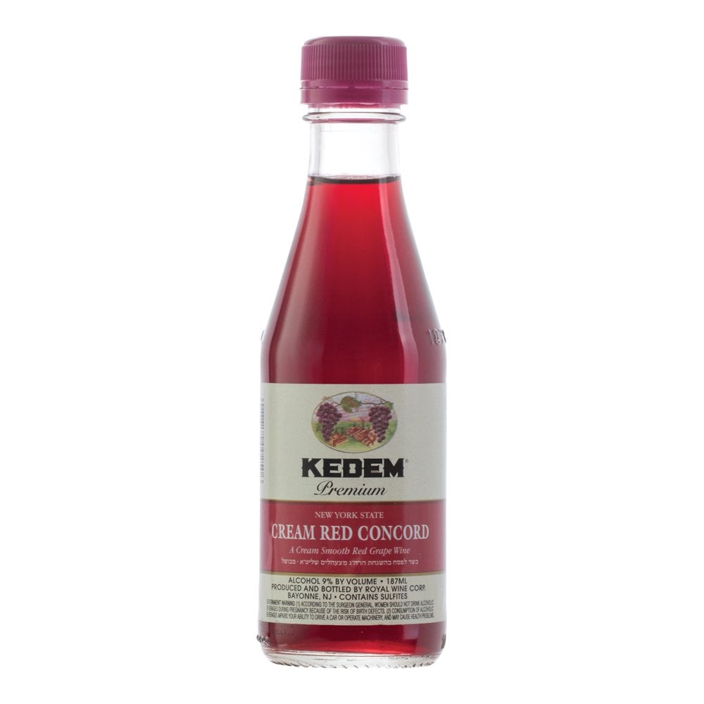 Kedem Cream Red Concord 187ml Wine Grape Juice Champagne From The Grapevine Uk